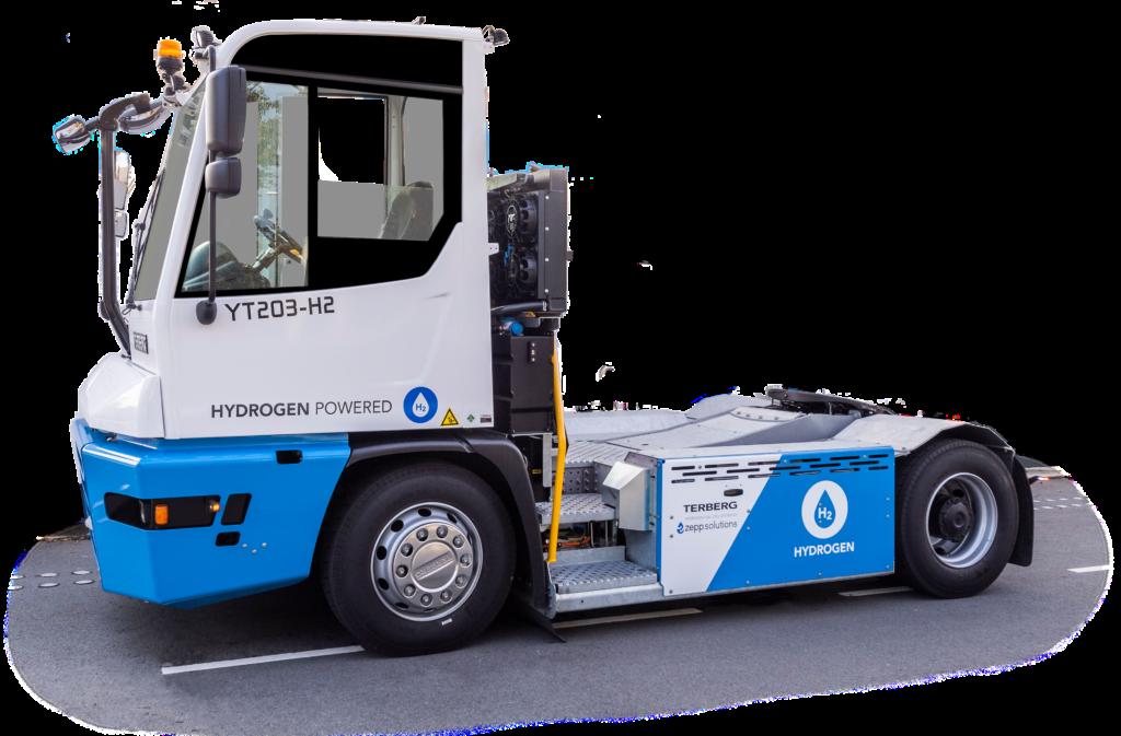 Terberg hydrogen YT tractor with zepp.solutions hydrogen fuel cell module
