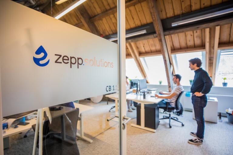 zepp.solutions office in the Buccaneer, Delft. View from door into office.
